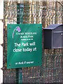 TG1607 : Colney Woodland Burial Park sign by Adrian Cable