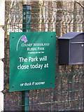 TG1607 : Colney Woodland Burial Park sign by Geographer