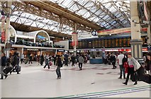 TQ2878 : London Victoria Station concourse by Paul Gillett