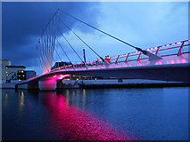 SJ8097 : MediaCityUK Footbridge by David Dixon