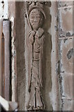 SO4430 : Chancel arch figure (middle left), Kilpeck Church by Bob Embleton