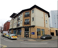 SU1484 : Swindon Town Centre Police Point by Jaggery