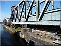 SJ7697 : Swing aqueduct and swingbridge at Barton by Christine Johnstone