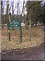TM4671 : Footpath & Forestry sign in Dunwich Forest by Adrian Cable