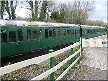 TR2548 : Former Southern Region carriage stock at Shepherdswell station by Marathon