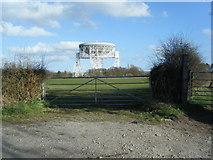 SJ7971 : Jodrell Bank radio telescope from Bomish Lane by Colin Pyle
