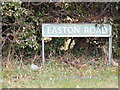 TG1309 : Easton Road sign by Adrian Cable