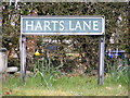 TG1509 : Harts Lane sign by Adrian Cable