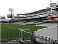 TQ2682 : Lord's: the Mound Stand in the rain by John Sutton