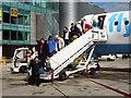 SJ8284 : Disembarking at Terminal 3 by David Dixon