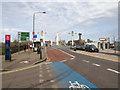 TQ2877 : Approach to Chelsea Bridge by David P Howard