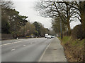 SJ7282 : Chester Road, A556, Approaching Mere by David Dixon