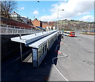 ST1599 : Bargoed's new bus station by Jaggery