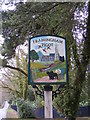 TG2703 : Framingham Pigot Village sign by Adrian Cable
