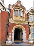 SP8633 : Entrance to mansion, Bletchley Park by Paul Gillett