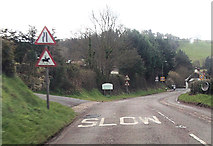 SY2591 : Entering Axmouth from the north by John Firth
