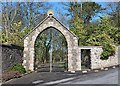 NT9167 : An archway to Northfield House, St Abbs by Walter Baxter