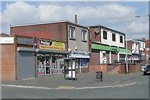 SE1321 : Shops, Highfield Road by Humphrey Bolton