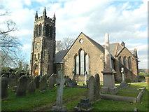 SJ4586 : St Nicholas's Church, Halewood by John Lord