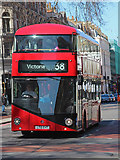 TQ2879 : New Routemaster at Buckingham Palace Road by Oast House Archive