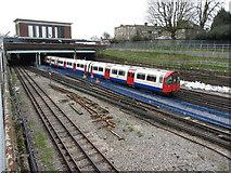 TQ1979 : London Underground train near Acton Town by Gareth James