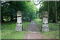 SK3040 : Heraldic gate posts by David Lally
