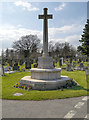 SJ5187 : Widnes Cemetery, Cross of Sacrifice by David Dixon