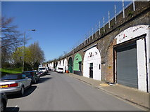 TQ2976 : Clapham, railway arches by Mike Faherty