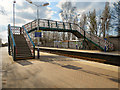 SJ5187 : Widnes Station Footbridge by David Dixon