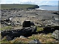 HY3834 : Rock slab, The Brings, Rousay, Orkney by Claire Pegrum