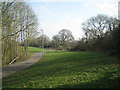 SP0565 : Open space beside Woodrow North, Greenlands, Redditch by Robin Stott