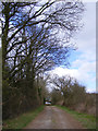 TM4072 : Farm Entrance & footpath from South Manor Farm and Willow Marsh Lane by Adrian Cable