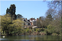 SP8633 : Bletchley Park mansion from the lake by Roger Davies