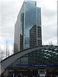 TQ3780 : Office block behind Jubilee Line Station, Canary Wharf by Andrew Wilson