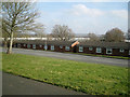 SP0565 : First floor of houses in Fladbury Close, Woodrow, Redditch by Robin Stott