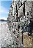 SH1726 : Up close to the sea wall at Aberdaron by Dave Croker