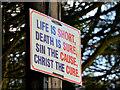 J4772 : Religious message, Newtownards by Albert Bridge