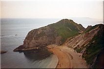 SY8080 : Man o' war Cove and headland at Durdle Door by Phil Champion