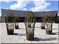H6278 : Wicker sculptures, Creggan by Kenneth  Allen