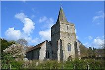 TQ9644 : St Margaret's church, Hothfield by Julian P Guffogg