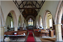 TQ9644 : Interior, St Margaret's church, Hothfield by Julian P Guffogg