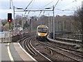 NZ2642 : Class 185 approaching Durham Station by Rob Newman