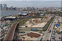 TQ3980 : Railway Line as seen from the Emirates Cable Car by Christine Matthews