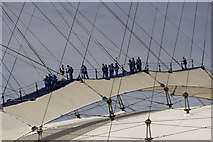 TQ3980 : Over the Top, O2 Centre, Greenwich by Christine Matthews