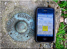 NS6065 : Fundamental Bench Mark, Glasgow by Rossographer