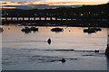 SX9372 : Fast-flowing River Teign, ebb tide, Teignmouth harbour by Robin Stott