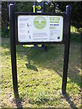 TM3876 : Basley Park sign by Adrian Cable