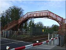 NZ1164 : Footbridge, Wylam Station by JThomas