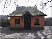 TQ2977 : Hut, Pimlico Gardens SW1 by Robin Sones