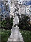TQ2977 : William Huskisson statue, Pimlico Gardens SW1 by Robin Sones